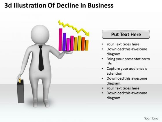Business Strategy Plan 3d Illustration Of Decline Concepts