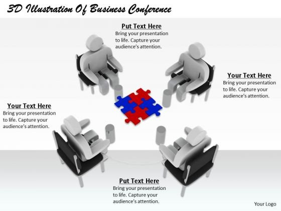 Business Strategy Plan Template 3d Illustration Of Conference Concept