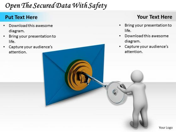 Business Strategy Plan Template Open The Secured Data With Safety Concept Statement
