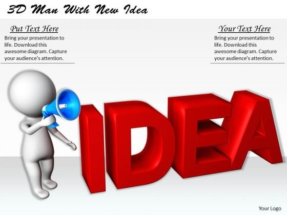 Business Strategy Planning 3d Man With New Idea Concept