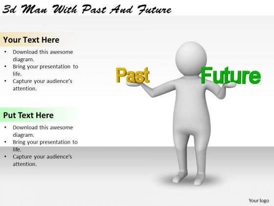 Business Strategy Planning 3d Man With Past And Future Character