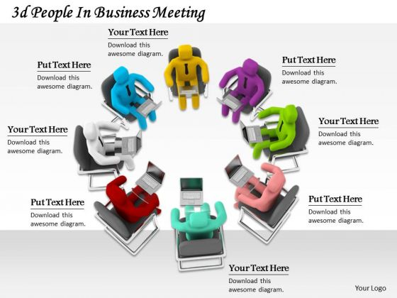 Business Strategy Planning 3d People Meeting Concept Statement