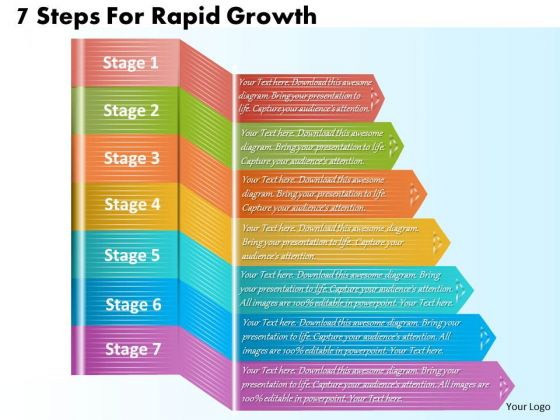 Business Strategy Planning 7 Steps For Rapid Growth Marketing Strategic Ppt Slide