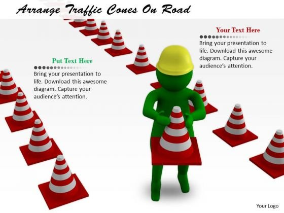Business Strategy Planning Arrange Traffic Cones Road Concepts