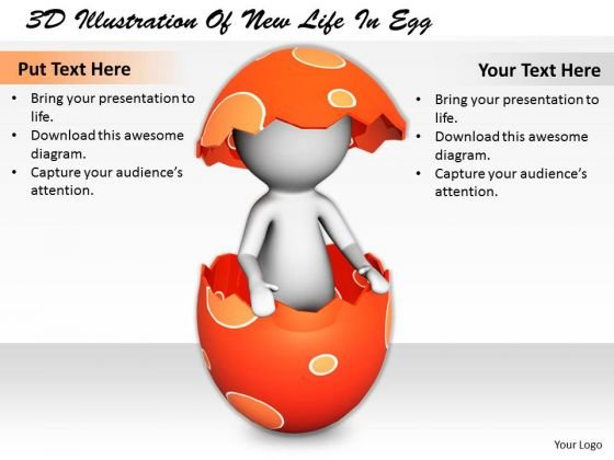 Business Strategy Process 3d Illustration Of New Life Egg Basic Concepts