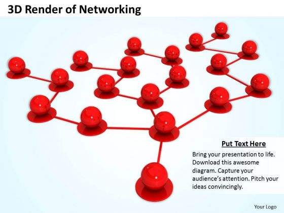 Business Strategy Process 3d Render Of Networking Icons Images