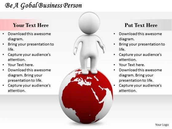Business Strategy Process Be Global Person Adaptable Concepts