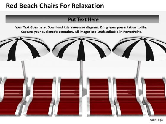 Business Strategy Red Beach Chairs For Relaxation Images