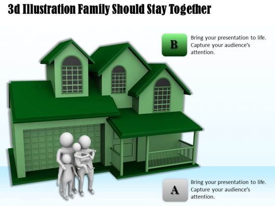 Business Strategy Review 3d Illustration Family Should Stay Together Basic Concepts