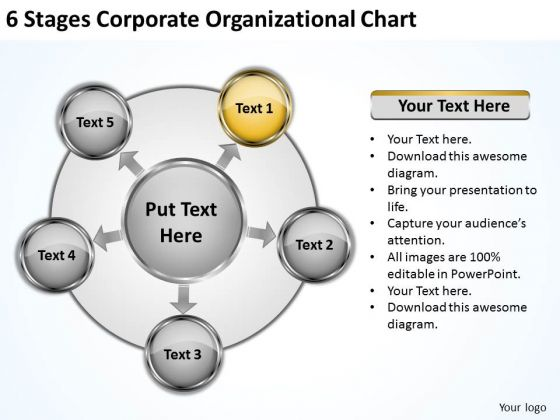 Business Strategy Review Stages Corporate Organizational Chart Integration