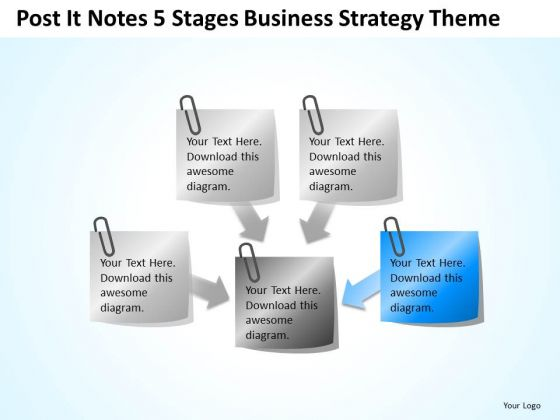 Business Strategy Review Theme Ppt Non Profit Plan Template Free