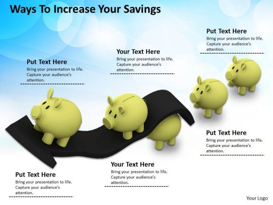 Business Strategy Ways To Increase Your Savings Icons