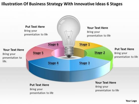 Business Strategy With Innovative Ideas 6 Stages Ppt Online Plans PowerPoint Slides