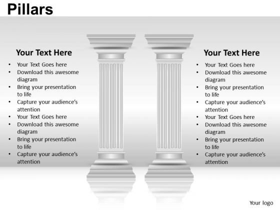 Business Strength Pillars PowerPoint Slides And Ppt Diagram Templates