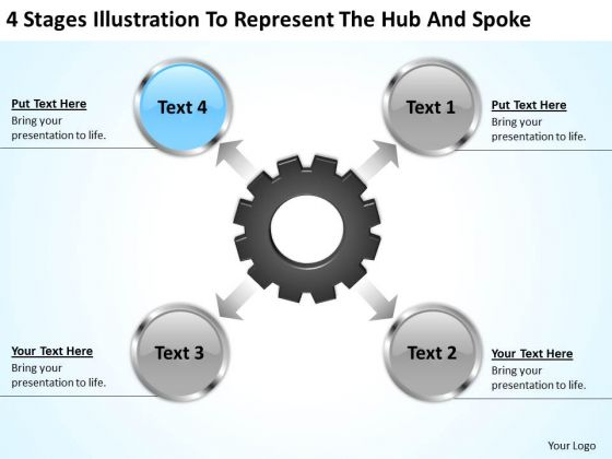 Business Structure Diagram Illustration To Represent The Hub And Spoke Ppt PowerPoint Templates