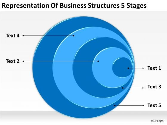 Business Structures 5 Stages Writing Plan Outline PowerPoint Slides