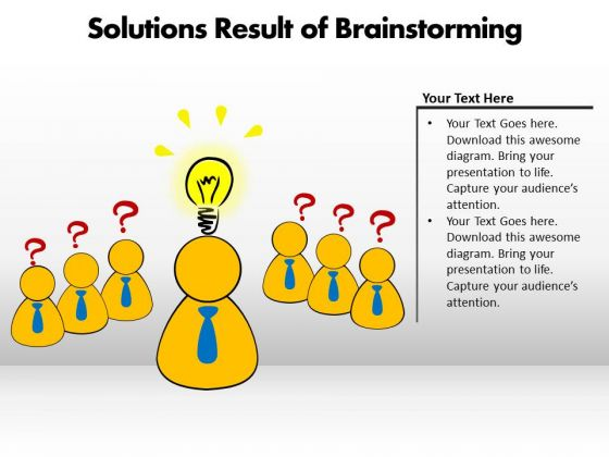 Business Success PowerPoint Templates Business Solutions Result Of Brainstorming Ppt Slides