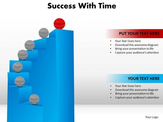 Business Success PowerPoint Templates Business Steps To Reach Success With Time Ppt Slides