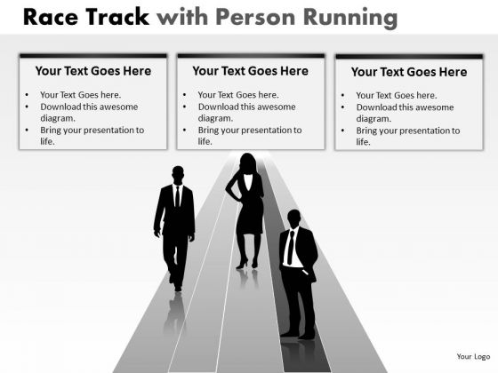 Business Success Race Person Running PowerPoint Slides And Ppt Diagram Templates