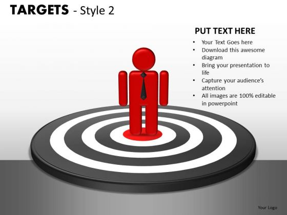 Business Targets 2 PowerPoint Slides And Ppt Diagram Templates