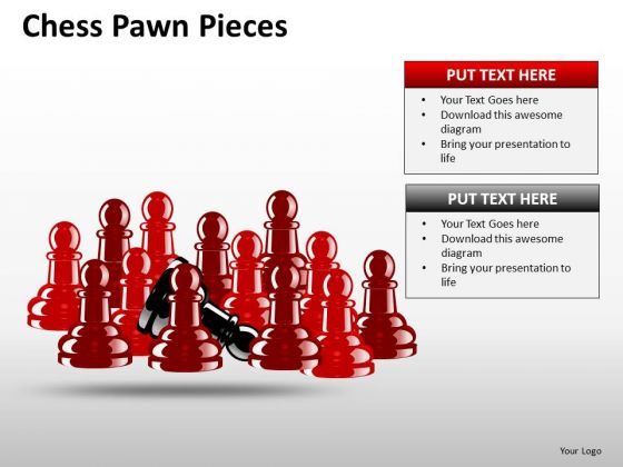 Business Team Chess Pawn Pieces PowerPoint Slides And Ppt Diagram Templates