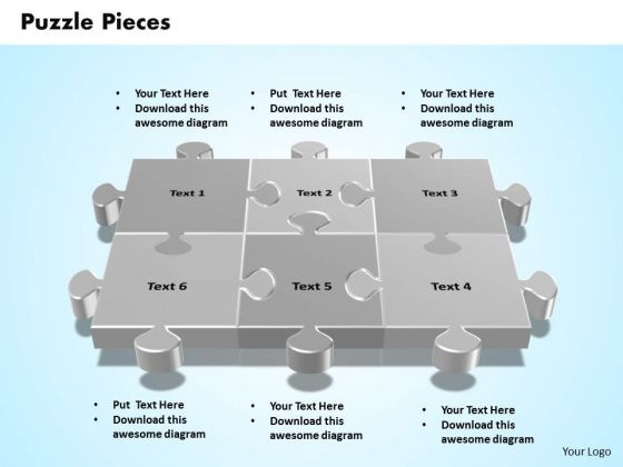 Business Teamwork PowerPoint Templates Business 3d Interconnected Jigsaw Puzzle Pieces Ppt Slides