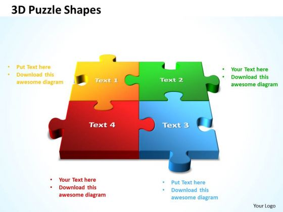 Business Teamwork PowerPoint Templates Business 3d Puzzle Process Adjoining Shapes Ppt Slides