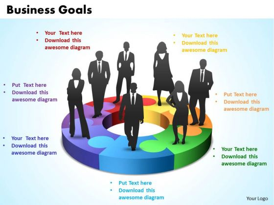 Business Teamwork PowerPoint Templates Business International Business Goals 7 Stages Ppt Slides