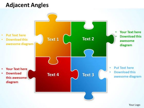 Business Teamwork PowerPoint Templates Business Puzzle Process Adjacent Angles Ppt Slides