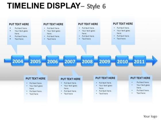 Timeline powerpoint templates slides and graphics business timeline display 6 powerpoint slides and ppt diagram templates toneelgroepblik Images