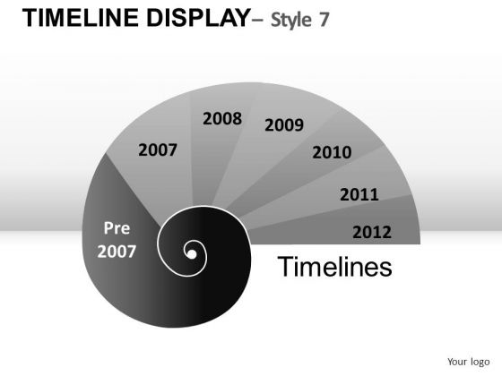Business Timeline Display 7 PowerPoint Slides And Ppt Diagram Templates