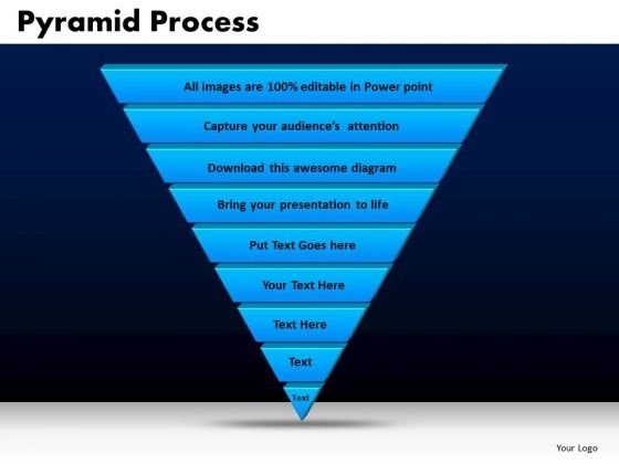 Business Triangles PowerPoint Templates Editable Pyramid Process Ppt Slides