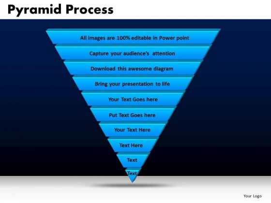 Business Triangles PowerPoint Templates Sales Pyramid Process Ppt Slides