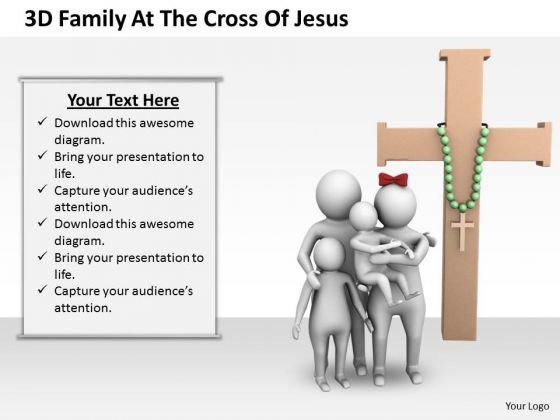 Business Unit Strategy 3d Family The Cross Of Jesus Concept