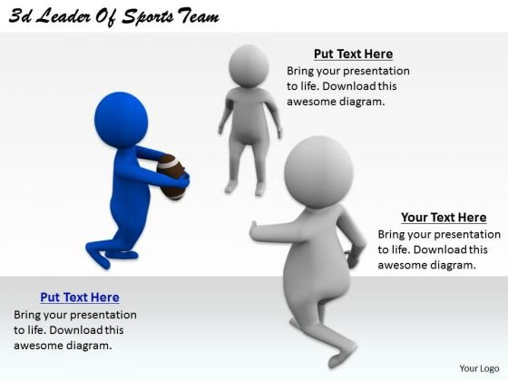 Business Unit Strategy 3d Leader Of Sports Team Character