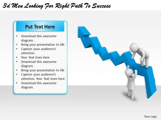 Business Unit Strategy 3d Men Looking For Right Path To Success Character Modeling