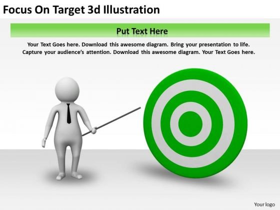 Business Unit Strategy Focus On Target 3d Illustration Concepts