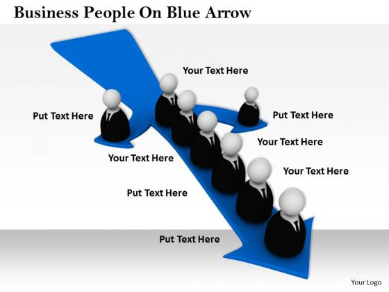 Business Unit Strategy People On Blue Arrow Best Stock Photos