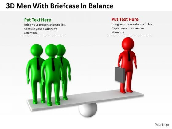 Business Use Case Diagram 3d Men With Briefcase Balance PowerPoint Templates