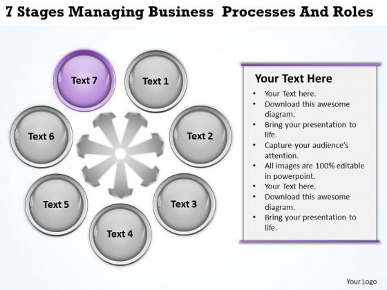 Business Use Case Diagram Example Managing Processes And Roles Ppt PowerPoint Slides