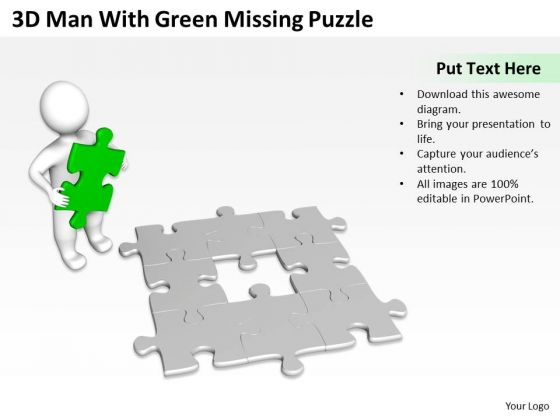 Business Use Case Diagram Example Missing Puzzle PowerPoint Templates Ppt Backgrounds For Slides