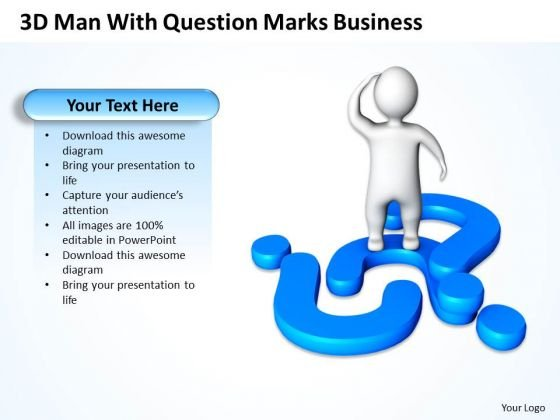 Business Use Case Diagram Question Marks New PowerPoint Presentation Slides