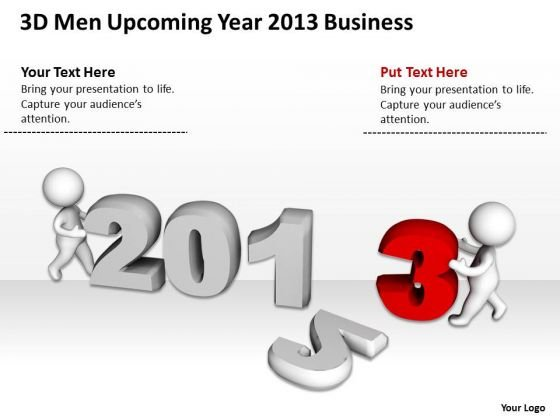 Business Use Case Diagram Year 2013 PowerPoint Templates