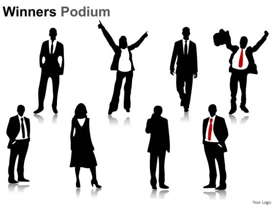 Businessman Winners Podium PowerPoint Slides And Ppt Diagram Templates