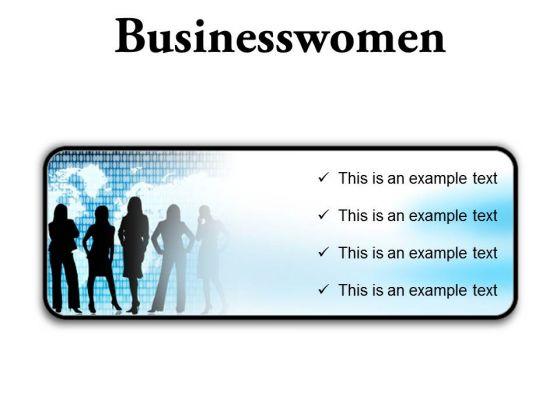 Businesswomen Global PowerPoint Presentation Slides R