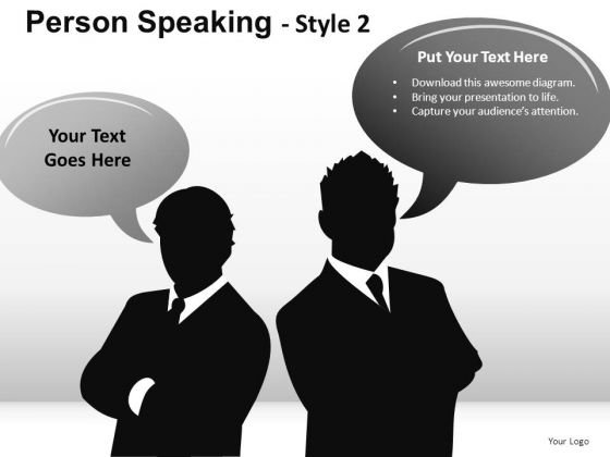 Busy Person Speaking 2 PowerPoint Slides And Ppt Diagram Templates