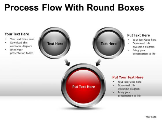 Buttons Process Flow PowerPoint Diagrams
