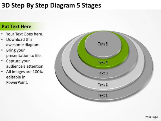 By Diagram 5 Stages How To Write Business Plan For PowerPoint Templates