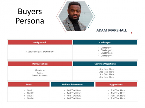 CDD Process Buyers Persona Ppt Visual Aids Example File PDF