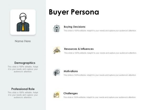 CDJ Buyer Persona Ppt Layouts Professional PDF